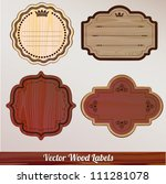 set vector wooden labels | Shutterstock .eps vector #111281078