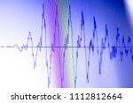 Small photo of Audio sound wave studio editing computer program screen showings sounds on screen from vocal recording of voiceover.