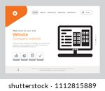quality one page website... | Shutterstock .eps vector #1112815889