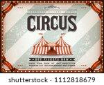 vintage design horizontal... | Shutterstock .eps vector #1112818679
