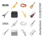 electric guitar  loudspeaker ... | Shutterstock .eps vector #1112821949