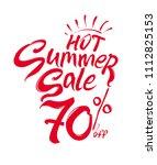 hot summer sale vector... | Shutterstock .eps vector #1112825153