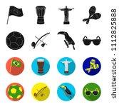 brazil  country  ball  football ... | Shutterstock .eps vector #1112825888