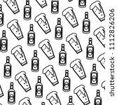 line schnapps liquor bottle and ...   Shutterstock .eps vector #1112826206