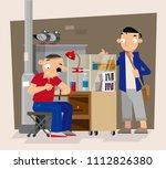 vector illustration of roadside ...   Shutterstock .eps vector #1112826380