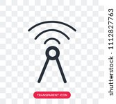 antenna vector icon isolated on ... | Shutterstock .eps vector #1112827763
