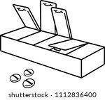 pill box organizer   Shutterstock .eps vector #1112836400