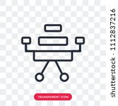 desk chair vector icon isolated ... | Shutterstock .eps vector #1112837216
