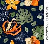 botanical motifs. isolated... | Shutterstock .eps vector #1112844470