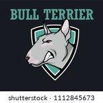 vector logo of a dog bull... | Shutterstock .eps vector #1112845673