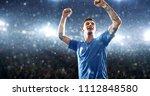 soccer player celebrates a... | Shutterstock . vector #1112848580