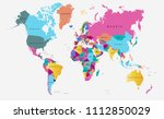 color world map vector | Shutterstock .eps vector #1112850029