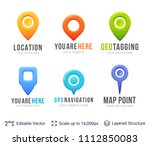 set of map location pointers.... | Shutterstock .eps vector #1112850083