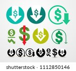 set of cost reduction icon.... | Shutterstock .eps vector #1112850146