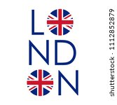 london typography design with... | Shutterstock .eps vector #1112852879