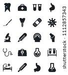 set of vector isolated black... | Shutterstock .eps vector #1112857343