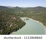 aerial drone view on abrau... | Shutterstock . vector #1112868860