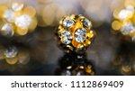 close up of single golden... | Shutterstock . vector #1112869409