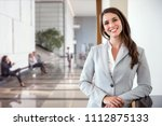 successful female business... | Shutterstock . vector #1112875133
