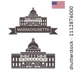 commonwealth of massachusetts.... | Shutterstock .eps vector #1112876000