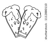 line beers froth liquor glass...   Shutterstock .eps vector #1112880110