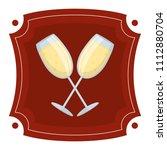champagne liquor glass beverage ...   Shutterstock .eps vector #1112880704