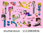 a set of different people... | Shutterstock .eps vector #1112883836