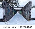 Concrete Tunnel With Graffiti...