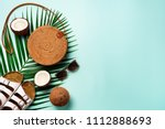 stylish rattan bag  coconut ... | Shutterstock . vector #1112888693