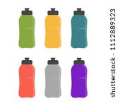 sports bottle icon. bottle with ... | Shutterstock .eps vector #1112889323
