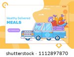 fast delivery of fresh... | Shutterstock .eps vector #1112897870