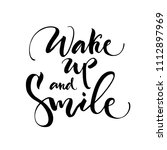 wake up and smile on white... | Shutterstock .eps vector #1112897969