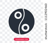 yin yang vector icon isolated... | Shutterstock .eps vector #1112902460