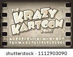 a vector cartoon font in the... | Shutterstock .eps vector #1112903090
