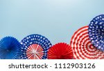 July 4th theme paper fans on...