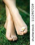 Beautiful Female Bare Feet With ...
