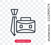 briefcase vector icon isolated...   Shutterstock .eps vector #1112909174