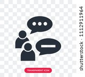 discussion vector icon isolated ... | Shutterstock .eps vector #1112911964