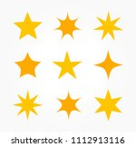 the collection of stars icons.... | Shutterstock .eps vector #1112913116