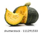 Japanese Pumpkin On White...