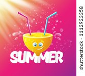 vector creative summer label or ...   Shutterstock .eps vector #1112923358