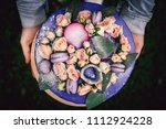 a close up of an unusual cake... | Shutterstock . vector #1112924228
