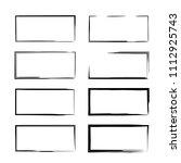 set of  grunge frames.... | Shutterstock .eps vector #1112925743