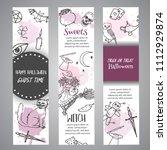 hand drawn halloween banner... | Shutterstock .eps vector #1112929874