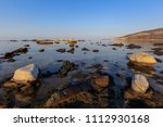 aegean seashore and marble... | Shutterstock . vector #1112930168