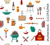 barbeque seamless vector... | Shutterstock .eps vector #1112932964