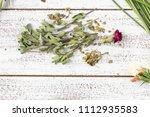Fresh And Dry Marjoram Herbs O...