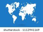 world map vector | Shutterstock .eps vector #1112941169