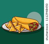 mexican food card | Shutterstock .eps vector #1112948450