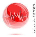 white heart cardio chart in the ... | Shutterstock .eps vector #111295124